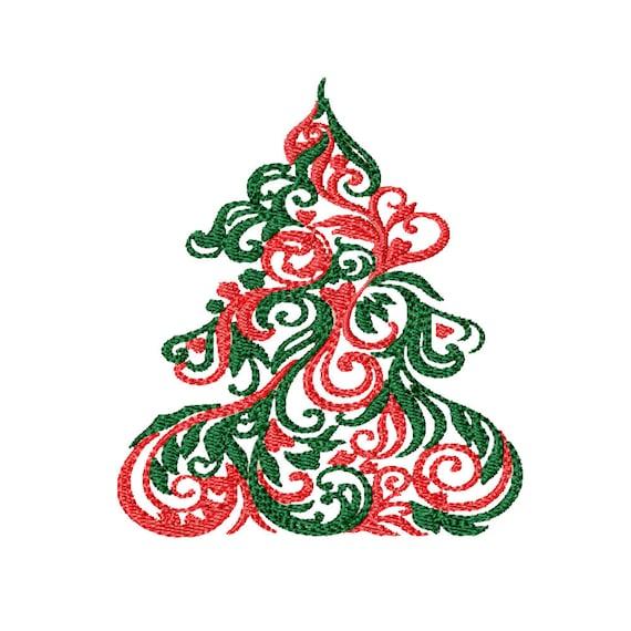 Elegant Christmas Tree- Machine Embroidery Design