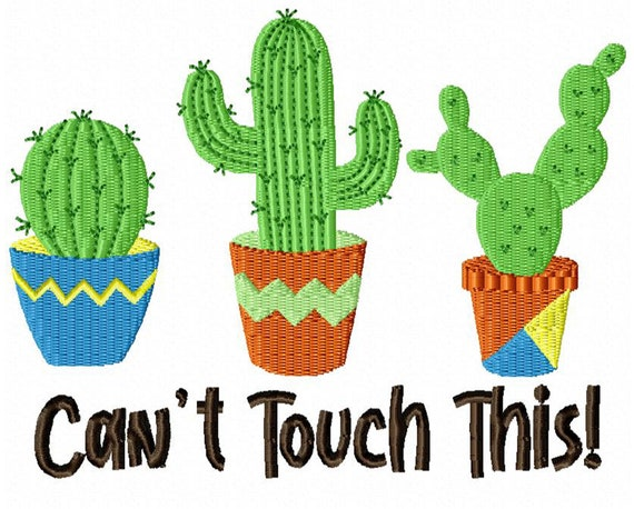 Can't Touch This-  A Fun Design Download for Embroidery Machines