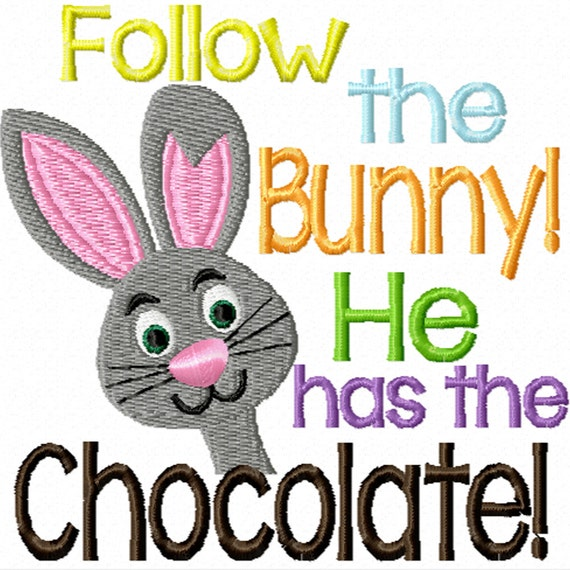 Follow the Bunny -A Machine Embroidery Design for Easter
