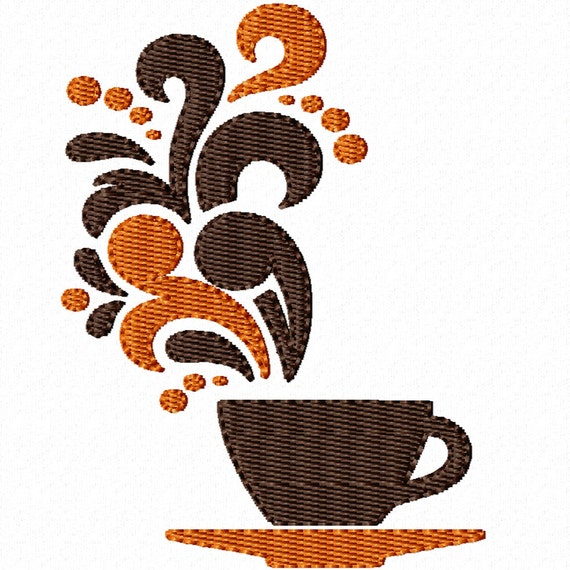 Good Morning Cup- Machine Embroidery Design for the Kitchen (3 Sizes!)
