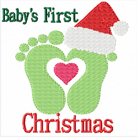 Baby's First Christmas -Machine Embroidery Designs for Baby