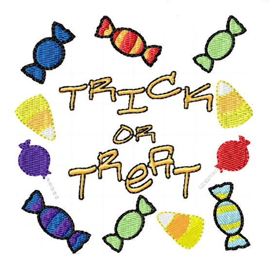 Trick or Treat!- Machine Embroidery