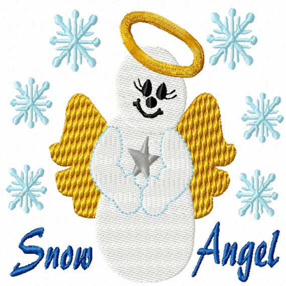 Snow Angel -A Machine Embroidery Design for Christmas or Winter