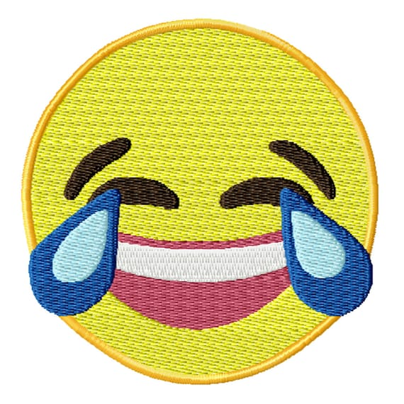 Laughing Emoji -A Machine Embroidery Design for the Embroidery Machine