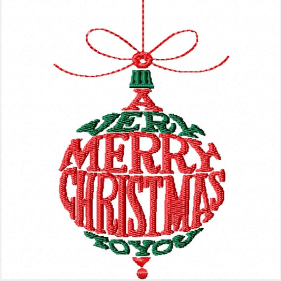 A Very Merry Christmas to You - A Machine Embroidery Design for Christmas