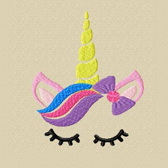 Unicorn Face -A Machine Embroidery Design for the Little Unicorn Lover