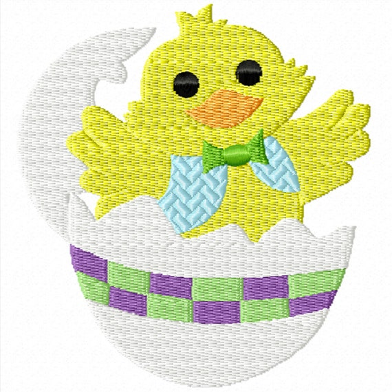 Easter Duckling -A Machine Embroidery Design for Easter or Spring
