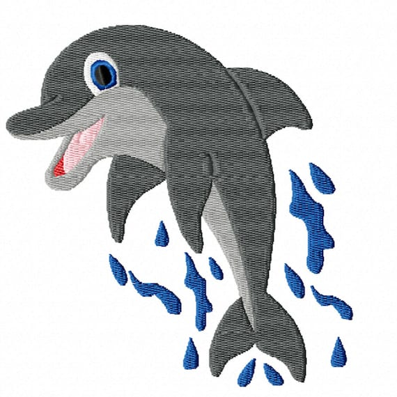 Jumping Dolphin- A Machine Embroidery Design