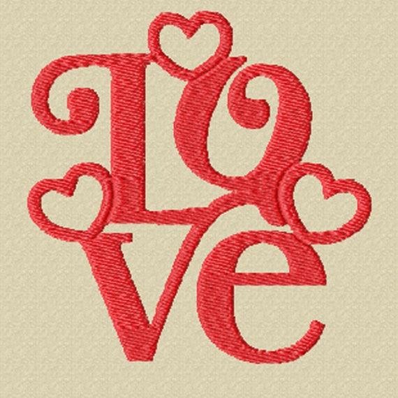 Love- A Machine Embroidery Design for Your Valentine, or Just Because!