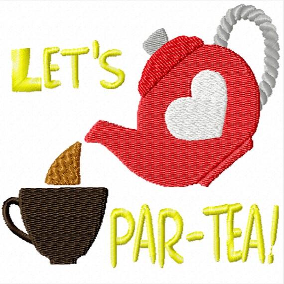 Let's Par-TEA -A Machine Embroidery Design for the Kitchen