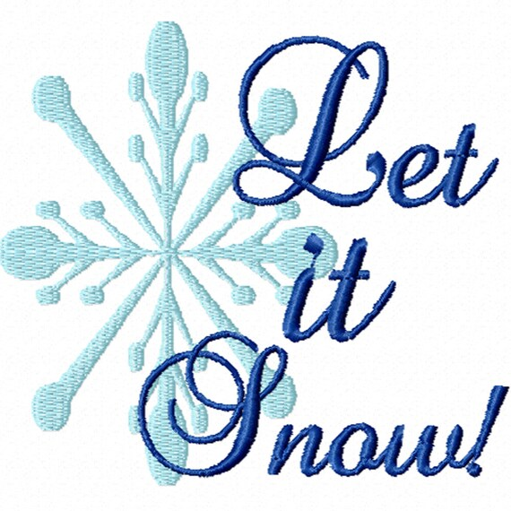 Let It Snow! -A Machine Embroidery Design for Christmas or Winter