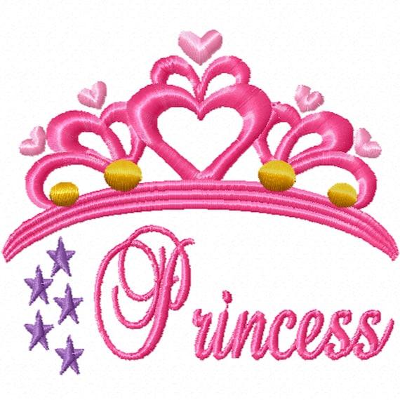 Princess Tiara -A Machine Embroidery Design for the Little Princess