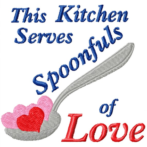 Spoonfuls of Love -A Machine Embroidery Design for the Kitchen