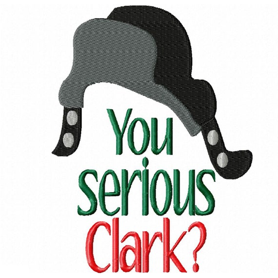 You Serious Clark? -A Fun Machine Embroidery Design for Christmas