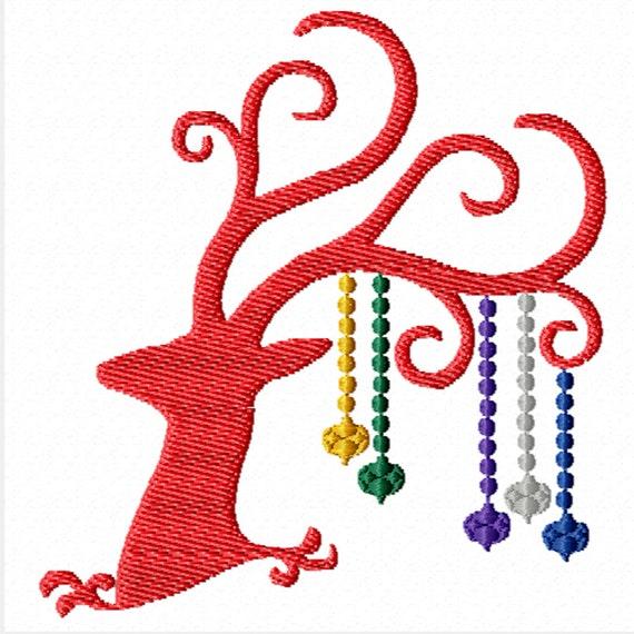 Christmas Reindeer -A Machine Embroidery Design for Christmas