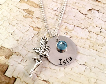 Fairy Necklace, Personalized Fairy Necklace, Custom Name Necklace, Fairy name necklace, charm necklace, for teen, for little girl, for her