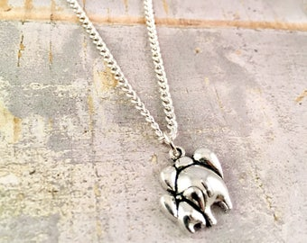 Elephant Necklace Mother Daughter, New mom elephant jewelry, Mother Child, Mother Son Jewelry, Elephant  jewelry, for mother, push present