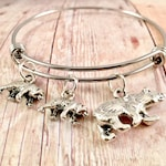 Mama Bear bracelet, charm bracelet,  Mothers day, Mama and baby Bear charm, mother jewelry, New mom gift, grizzly, Alaska bear, polar