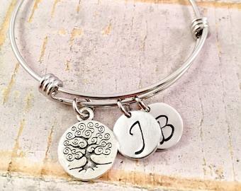 Family Tree Bracelet, Initial Bracelet, Mothers Day Gift, Mother's bracelet, For Grandma, Name bracelet, Sister, New Mom, personalized