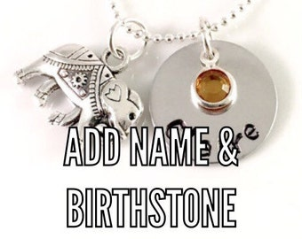 Add a Hand Stamped Name Disc, Tag or Name Disc & Birthstone