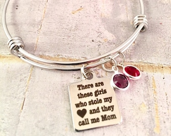 Mothers Bracelet,  Personalized Mom birthstone Bracelet, Family bracelet, New mom, Gift from children,  Mothers Day Gift