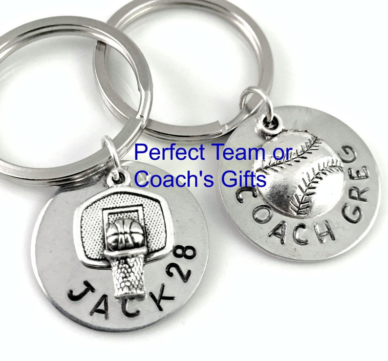 Baseball Coach Gift Soccer Coach Keyring football Team image 0