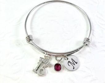 Sweet 16 Bracelet, charm bracelet,  16th birthday Bracelet, number 16 charm, Adjustable bangle bracelet, milestone birthday, young adult