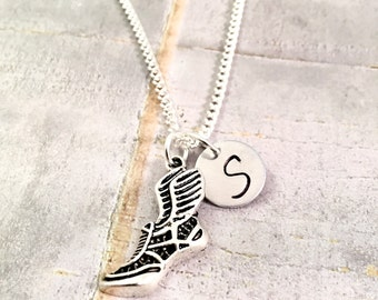 Track Necklace, track and field necklace, cross country, sprinter necklace, 4 x 4, track coach, running, coaches gift, for him, for her
