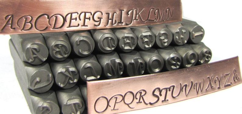 Add a 10MM Hand Stamped Initial or Number to your jewelry image 0