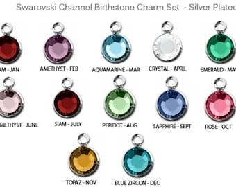 Add a 6mm Silver Plated Swarovski Birthstone to your jewelry