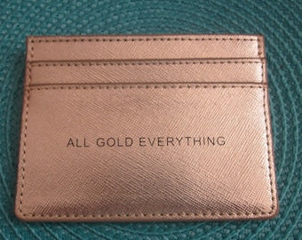 GOLD CREDITCARD LEATHER Holder/ Keeper