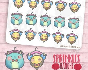 Hanger Sprinkles || Planner Stickers, Cute Stickers for Erin Condren (ECLP), Filofax, Kikki K, Etc. || STB78