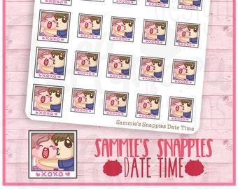 Sammie's Snappies Hubby Date Time || Planner Stickers, Cute Stickers for Erin Condren (ECLP), Filofax, Kikki K, Etc. || SFS36