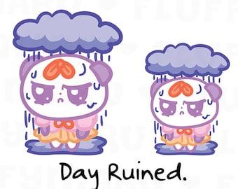 Bad Day Panda Mimi || Planner Stickers, Cute Stickers for Erin Condren (ECLP), Filofax, Kikki K, Etc. || MTP42