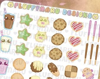 Cookie Deco Sticker Set || Planner Stickers, Cute Stickers for Erin Condren (ECLP), Filofax, Kikki K, Etc. || DS06