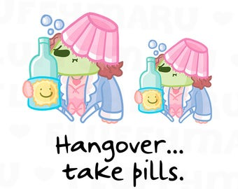 Hangover Sammie    Planner Stickers, Cute Stickers for Erin Condren (ECLP), Filofax, Kikki K, Etc.    SFS126