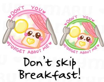 Breakfast Reminder || Planner Stickers, Cute Stickers for Erin Condren (ECLP), Filofax, Kikki K, Etc. || DPS175