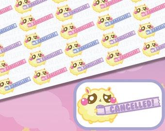 Biggie Fluffy Cancelled Tape || Planner Stickers, Cute Stickers for Erin Condren (ECLP), Filofax, Kikki K, Etc. || BSS22