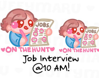Job Hunt Sammie || Planner Stickers, Cute Stickers for Erin Condren (ECLP), Filofax, Kikki K, Etc. || SFS50