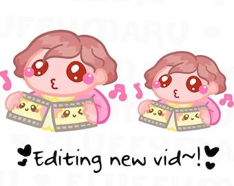 Video Editor Sammie    Planner Stickers, Cute Stickers for Erin Condren (ECLP), Filofax, Kikki K, Etc.    SFS97
