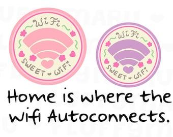 Wifi Sweet Wifi || Planner Stickers, Cute Stickers for Erin Condren (ECLP), Filofax, Kikki K, Etc. || DPS177