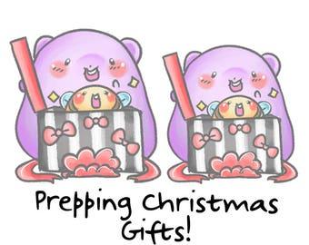 Gift Sprinkles || Planner Stickers, Cute Stickers for Erin Condren (ECLP), Filofax, Kikki K, Etc. || STB51
