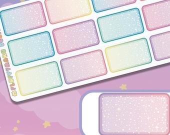 Biggie Starry Half Box Deco Set || planner stickers, cute stickers for Erin Condren (ECLP), Filofax, Kikki K, Etc. || BSS10