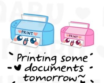 Printer || Planner Stickers, Cute Stickers for Erin Condren (ECLP), Filofax, Kikki K, Etc. || DPS85