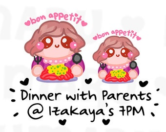Bon Appetit Sammie || Planner Stickers, Cute Stickers for Erin Condren (ECLP), Filofax, Kikki K, Etc. || SFS42