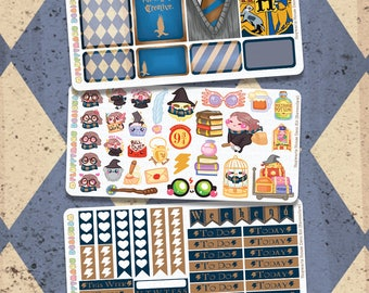 Magically Brave Wizard Mauly Hand Drawn Itty Bitty Kitty Collection Wizarding World Kit 3 Page Mini Planner Kit