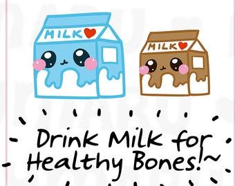 Milk Carton    Planner Stickers, Cute Stickers for Erin Condren (ECLP), Filofax, Kikki K, Etc.    DPS66
