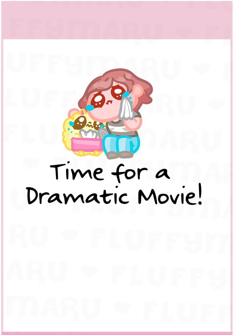 Drama Movie Reminder Sampler  Planner Stickers Cute image 0