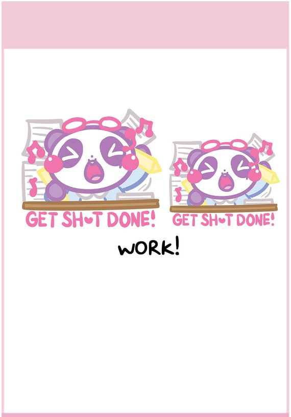 || MTP18 Kikki K Etc Party Time Panda Mimi || Planner Stickers Cute Stickers for Erin Condren ECLP Filofax