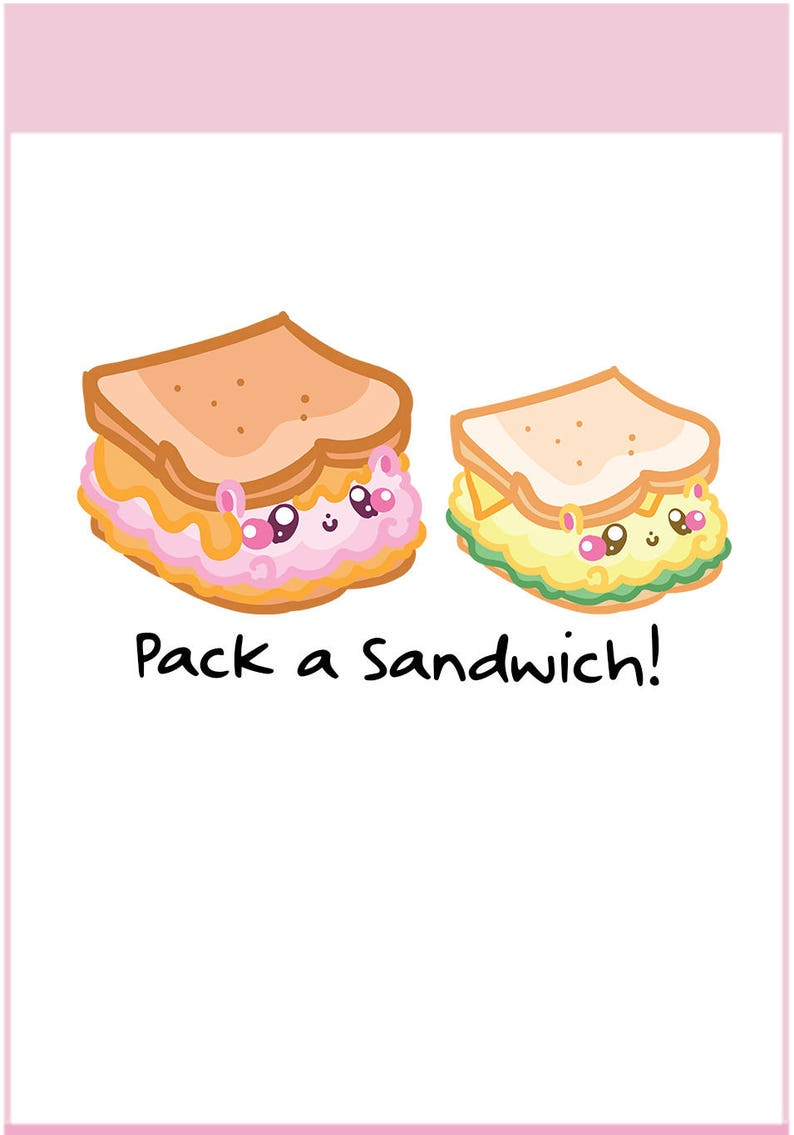 Fluffymaru Sandwich  Planner Stickers Cute Stickers for image 0